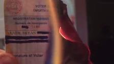 Republicans burn voter cards as Trump set for party nomination