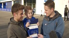 Everton supporter's generosity to Foxes fans
