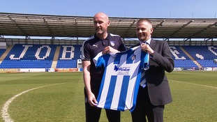 John McGreal (left) is unveiled today.