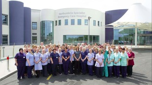 Staff at Northumbria Healthcare's new emergency care hospital at Cramlington – the trust has been rated 'outstanding' by the CQC.
