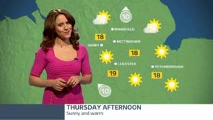 East Midlands weather: A sunny and warm Thursday ahead