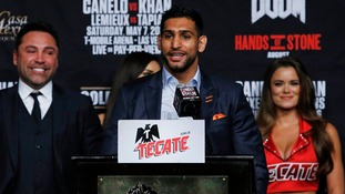 Boxer Amir Khan draws laughter with jab at Donald Trump