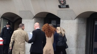 Rebekah Brooks makes her way into court today.