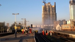 Vauxhall fire causes rail chaos