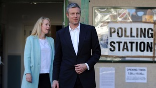 Conservative candidate for London Mayor, Zac Goldsmith, cast his vote