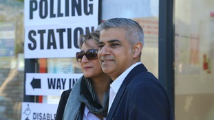 Labour candidate for London Mayor, Sadiq Khan, cast his vote