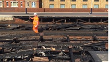 Travel chaos for thousands after track fire at Vauxhall station