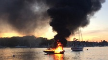 Boat explodes into flames on River Hamble