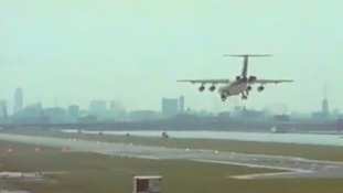 Retro film of London City Airport is a real throwback to the nineties