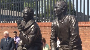 Jimmy Sirrel and Jack Wheeler statue