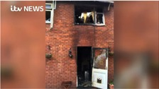 Family return to house gutted by fire