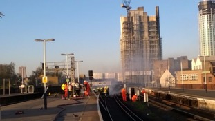Major travel disruption in the South due to fire at Vauxhall