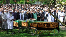 Funeral of Hamzaa Iqbal, Munib Afzal Karim and Hamza Gujjar