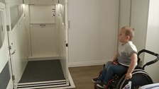 The house has now been fitted with a lift to help George get around.