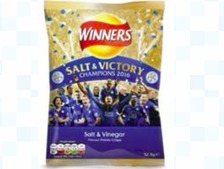 Walkers will be giving out a free pack of 'Salt and Victory' crisps to Leicester fans