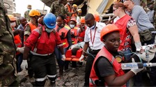 Four pulled alive from rubble six days after Kenya building collapse