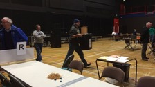 The first ballot boxes have arrive at the count in Carlisle