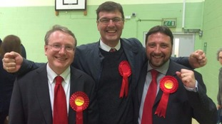 Duncan Enright (centre) was re-elected in Witney.