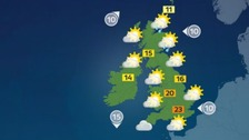 Weather: Fine and dry for many with plenty of sunshine