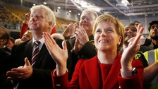 SNP celebrate as Labour look set to finish third in Scotland polls