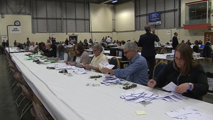 First ballot boxes being emptied for counting on Thursday