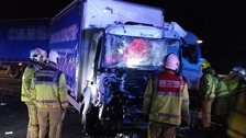 Lorry driver trapped for 50 minutes on the M6 in Stafford
