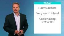 Simon has Friday's ITV Meridian weather