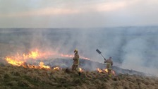 Moorland fire in Lancashire