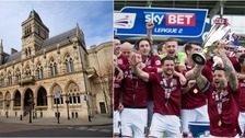Northampton Town's players will have a civic reception at the town's Guildhall.