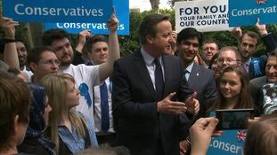 David Cameron in Peterborough.