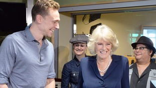 Actor Tom Hiddleston and Camilla Parker-Bowles shared a joke