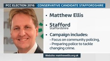 Matthew Ellis was the first Police & Crime Commissioner for Staffordshire, having been elected to the position in November 2012.
