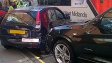 The 'pile up' happened outside the Sutton Dental Surgery in Coleshill Street just before 5.00pm.