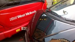 The crash in Sutton Coldfield.