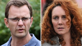 David Cameron's former spin doctor Andy Coulson and ex-News International chief executive Rebekah Brooks.
