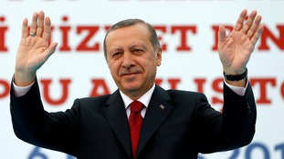 Mr Erdogan hit out at Brussels over the subject, saying 'we'll go our way, you go yours'