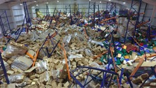 Photos from inside the warehouse collapse