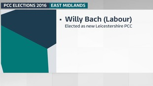 Willy Bach (Labour) has been elected as the new Leicestershire and Rutland Police and Crime Commissioner.