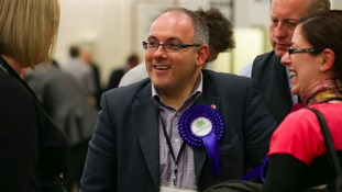 Harlow MP Robert Halfon at a local election count in Essex.