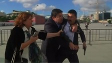 Man opens fire on Turkish journalist outside court