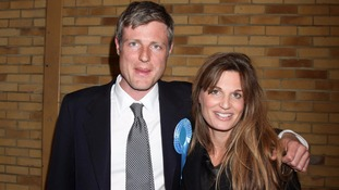 Zac Goldsmith with his sister Jemima