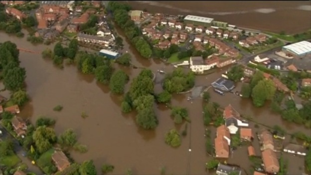 Aerial view of floods