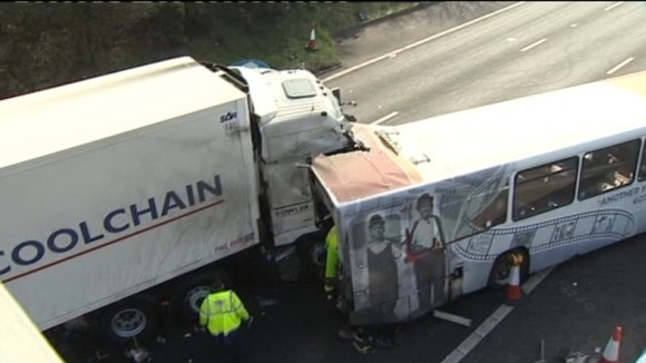 Lorry involved in M5 crash
