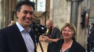 Former Labour leader Ed Miliband at Southwark Cathedral