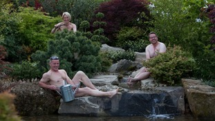 Malvern gardeners lose clothes for Naked Gardening Day