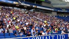 Fans at Amex stadium