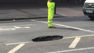 The sinkhole has forced the closure of Barking Road