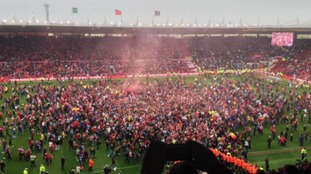 Fans and players share the moment Boro were promoted