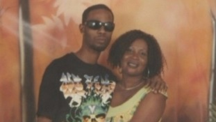 Orashia Edwards with his mother