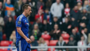 Guus Hiddink admits Chelsea captain John Terry may never play for the club again after sending off